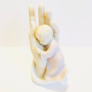 VALENCIA COLLECTION Hand of God w/Child Figurine